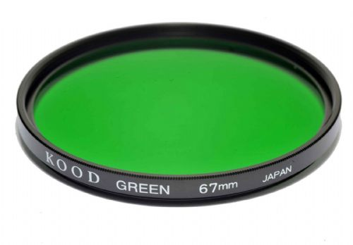 Kood High Quality Optical Glass Green Filter Made in Japan 67mm